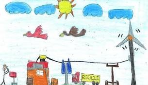 aluno_vence_concurso_desenho_reciclagem_Estiva
