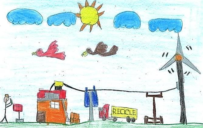 aluno de estiva vence concurso de desenho sobre reciclagem jornal