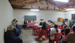 Foto das plenarias informativas realizadas nos bairros da cidade