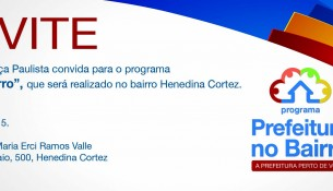 Convite Prefeitura no Bairro