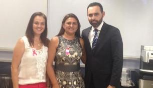 Prefeita Viveani, Deputado Estadual Ulisses Gomes e Diretora de Obras Simone Furquim