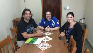 Secretário de Cultura - Pablo Farina, Idealizador do Ufoex - Marco Antonio e Secretária de Turismo - Ana Paula Odoni (Poli)