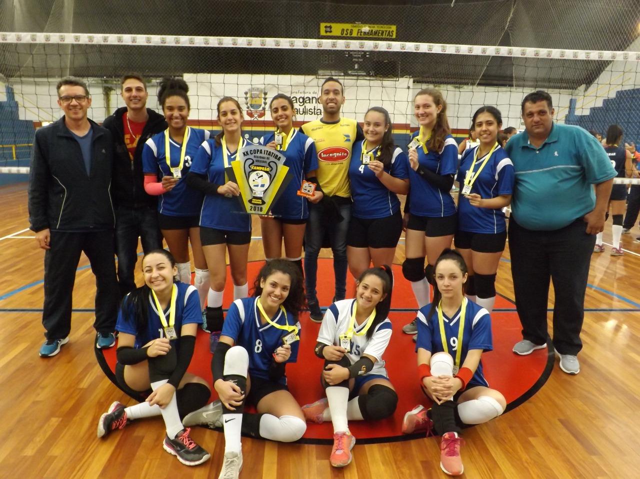 equipe categoria infantil campeã da XX Copa Itatiba de Voleibol edit