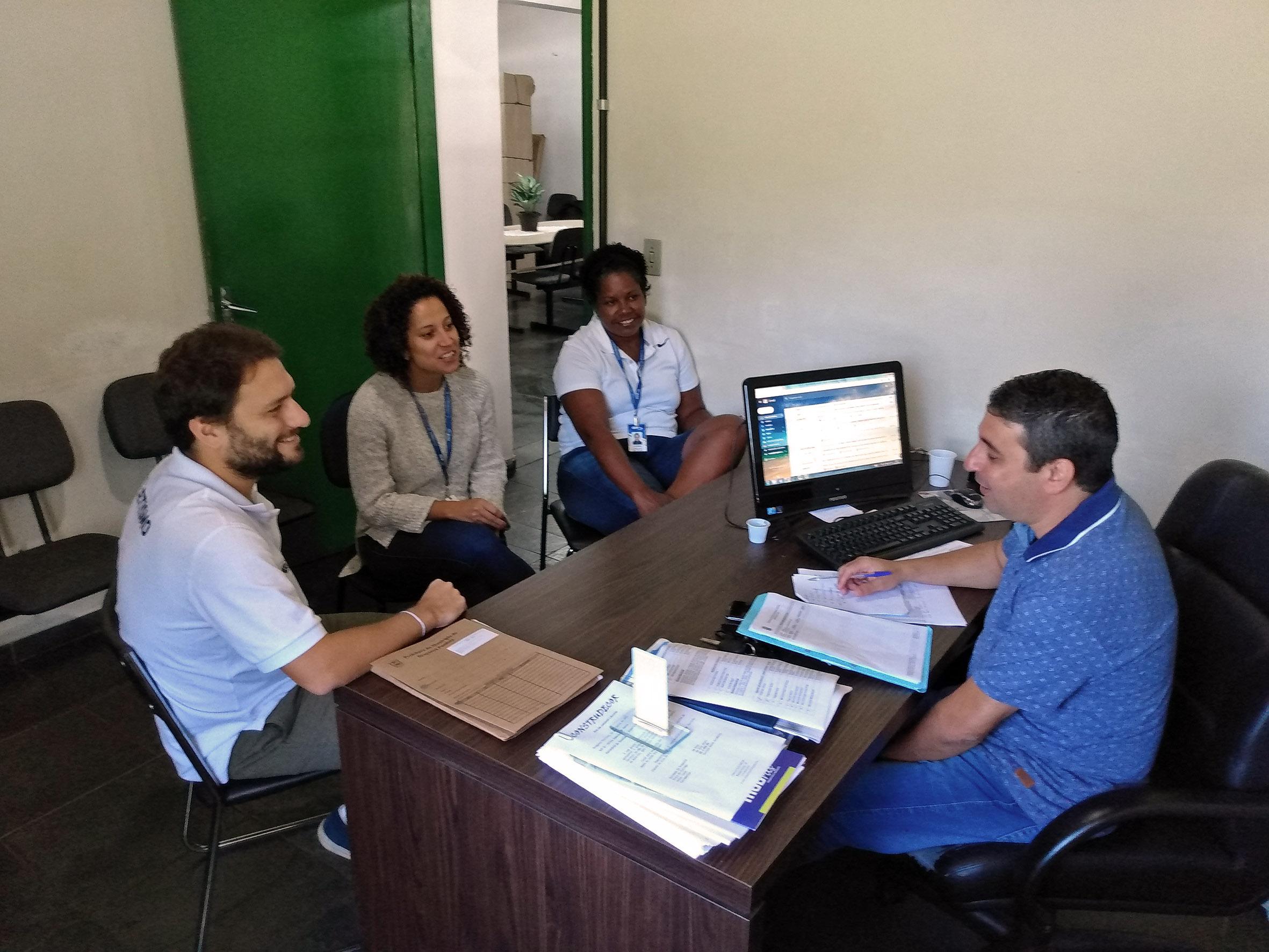 Carlos Alberto de Souza (Secretário da SEMJEL), Lucimara Machado (Coordenadora de competições) João Gabriel Leite (Coordenador de Marketing) e Maiara Batista (Analista de comunicação)