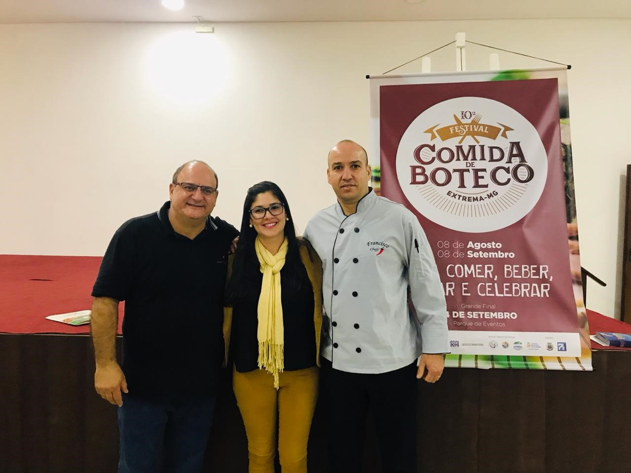 Edson Puiati, Ana Paula Odoni e José Francisco de Souza do Carmo