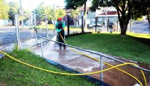 24.03.2020 Prefeitura realiza higienização contra o Coronavírus na cidade