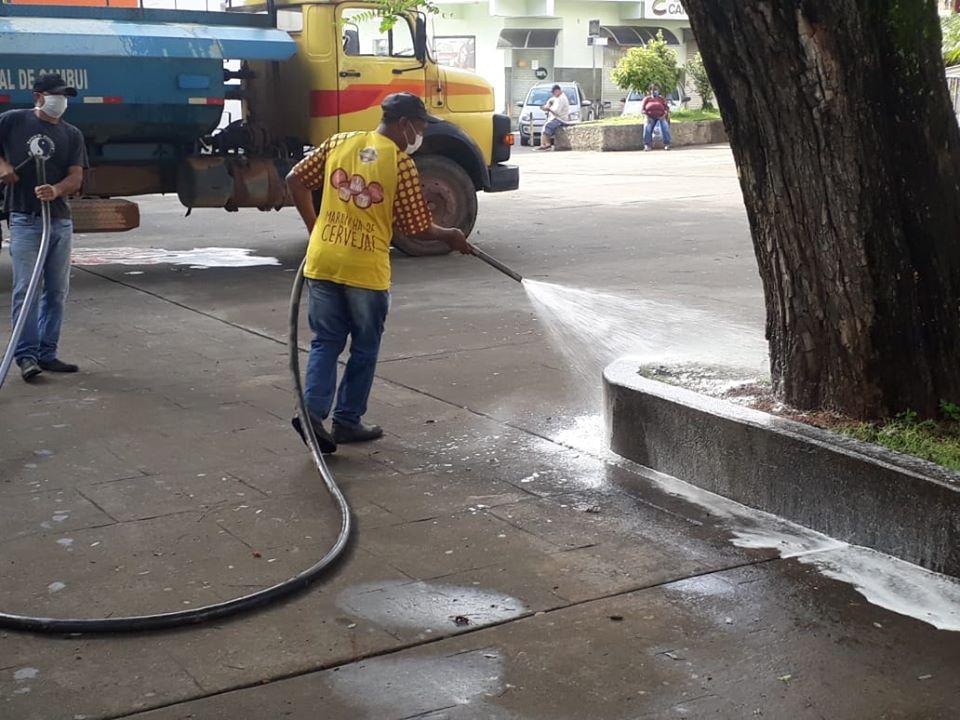 sanitarização ruas