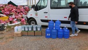 Entrega de kits de EPIs e higiene às cooperativas