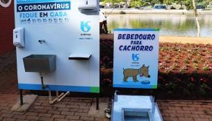 SABESP instala bebedouros para cães no Lago do Taboão