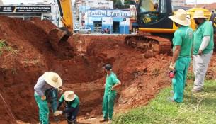 12.01.2021 Implantação de tubos de águas pluvias no  Lavapés 3