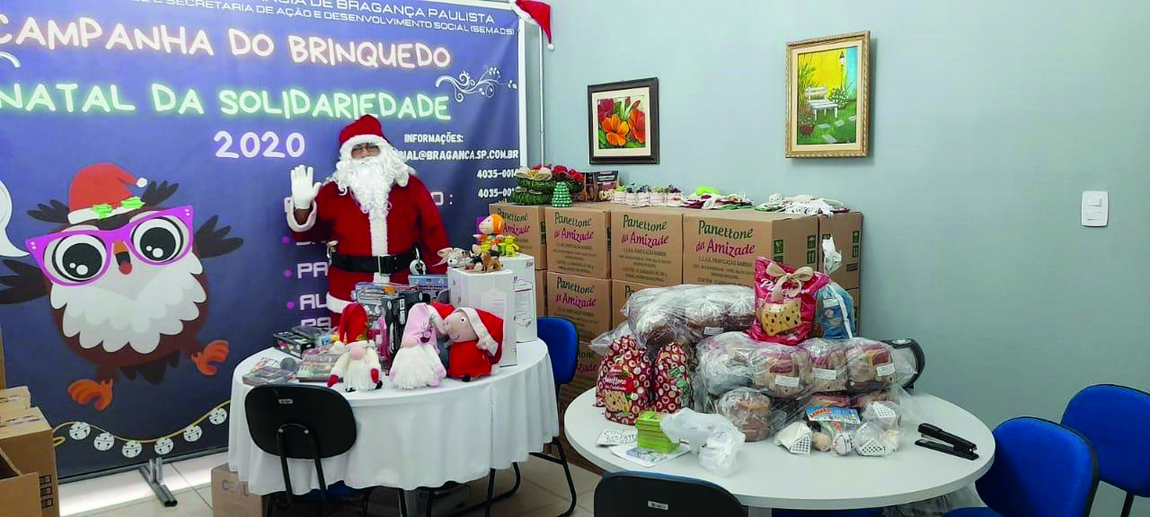 Doações das campanhas do Brinquedo e Natal da Solidariedade 2020 alegraram crianças e famílias em Bragança Paulista (1)