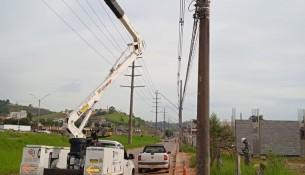prefeitura realiza troca de iluminação pública
