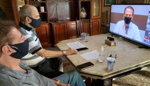 Administração participa de reunião virtual com o Governo do Estado