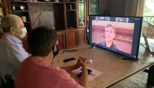 17.04.2021 Prefeito e Vice-Prefeito participam de encontro virtual com o Governo do Estado de São Paulo