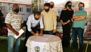 21.05.2021 Assinatura de Ordem de serviço do Parque Verde Planejadas