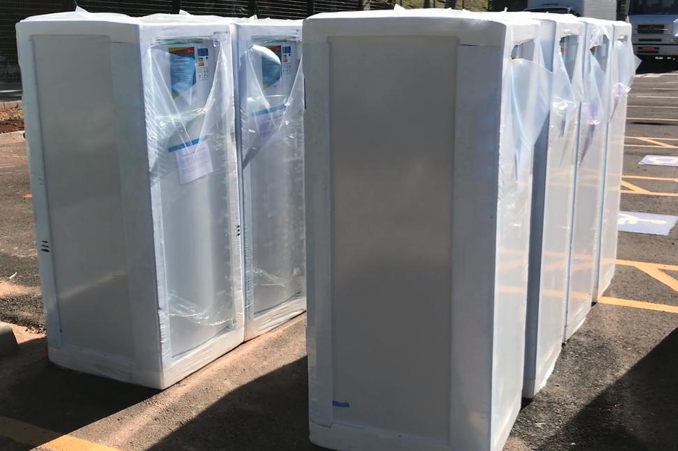 Como parte da responsabilidade social, Energisa doou geladeiras e freezers para municípios utilizarem na conservação de vacinas da Covid